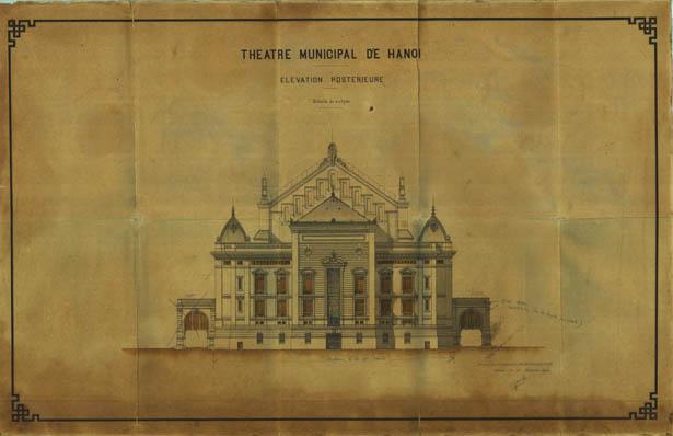 Mặt sau Nhà hát lớn Hà Nội