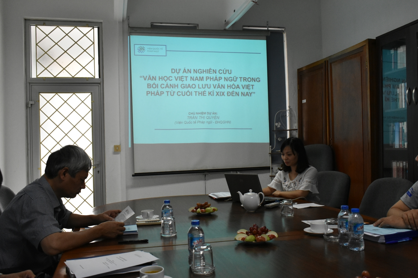 Ths Trần Thị Quyên báo cáo đề tài dự án