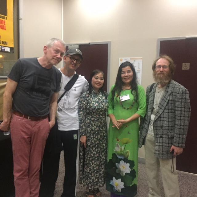 Thí sinh Phạm Phương Thảo, Quán quân Slam thơ Việt Nam lần thứ II- 2018 tại Slam thơ Quốc tế diễn ra tại Paris tháng 5/2018