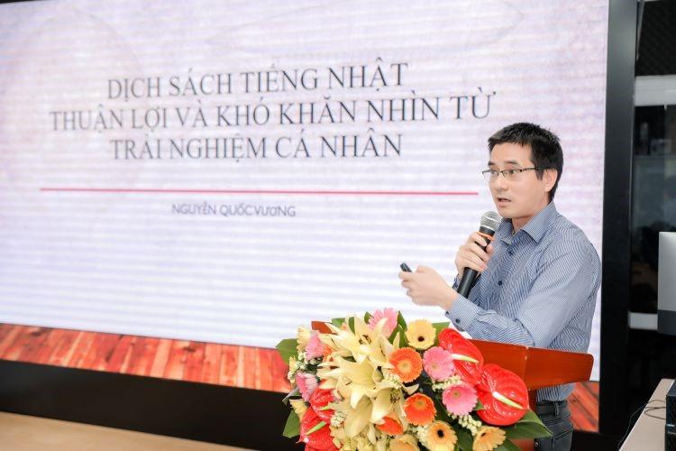Diễn giả Nguyễn Quốc Vương tại buổi tọa đàm